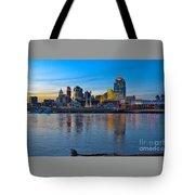 Cincinnati Skyline Across The Ohio River Tote Bag