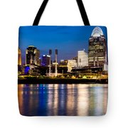 Cincinnati Skyline At Night  Tote Bag by Paul Velgos