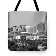 Cincinnati Skyline From Above  Tote Bag
