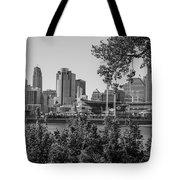 Cincinnati Skyline Through Trees Tote Bag