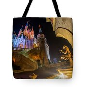 Cinderella And Her Castle Tote Bag