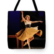 Cinderella At Home In Rags En Pointe With One Shoe After The Bal Tote Bag