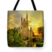 Cinderella Castle - Monet Style Tote Bag