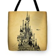 Cinderella Castle Patent Tote Bag