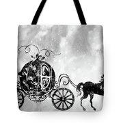 Cinderella's Carriage-black Tote Bag