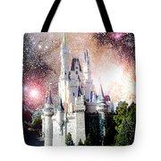 Cinderella's Castle, Fantasy Night Sky, Walt Disney World Tote Bag