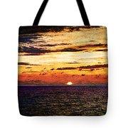 Cinque Terre - Sunset From Manarola - Panorama - Vintage Version Tote Bag