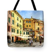 Cinque Terre - Vernazza Main Street - Vintage Version Tote Bag