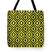Circle And Oval Ikat In Black N05-p0100 Tote Bag