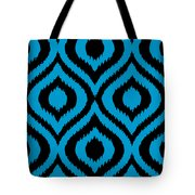 Circle And Oval Ikat In Black T02-p0100 Tote Bag