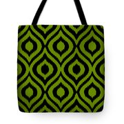 Circle And Oval Ikat In Black T03-p0100 Tote Bag