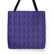 Circle And Oval Ikat In Black T09-p0100 Tote Bag