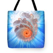 Circle Fire Blue Tote Bag
