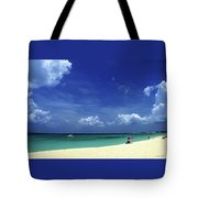 Circle Of Clouds On Grand Cayman Tote Bag