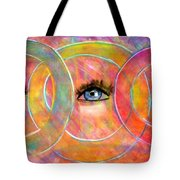 Circle Of Eyes Tote Bag