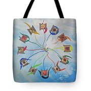 Circle Of Hearts Tote Bag