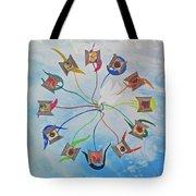 Circle Of Hearts Tote Bag