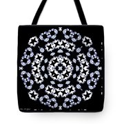 Circle Of Stars And Flowers Tote Bag
