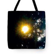 Circle Of Sunglow Through Pine Tote Bag