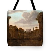 Circle Of View Over Rome Tote Bag