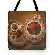 Circles And Rings Tote Bag