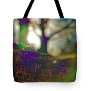 Circles Of Light And Color Tote Bag