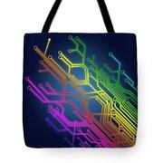 Circuit Board Tote Bag by Setsiri Silapasuwanchai