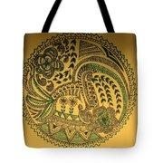 Circular Artwork Tote Bag