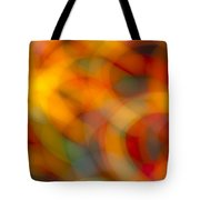 Circular Flow Christmas Abstract Tote Bag
