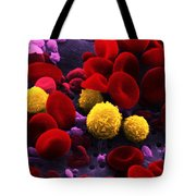 Circulating Human Blood, Sem Tote Bag by Omikron