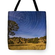 Circumpolar Star Trails Over Mimbres Tote Bag