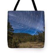 Circumpolar Star Trails Over The Gila Tote Bag
