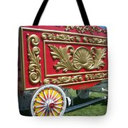 Circus Car In Red And Gold Tote Bag
