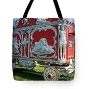 Circus Car In Red And Silver Tote Bag