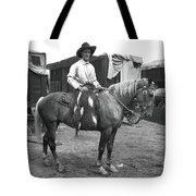 Circus Cowboy On Horse Tote Bag