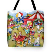 Circus In Town Tote Bag