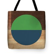 Cirkel Blue And Green- Art By Linda Woods Tote Bag by Linda Woods
