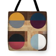 Cirkel Quad- Art By Linda Woods Tote Bag by Linda Woods