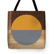 Cirkel Yellow And Grey- Art By Linda Woods Tote Bag by Linda Woods