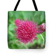 Cirsium Burgandy Thistle Tote Bag