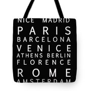 Cities Of Europe Tote Bag
