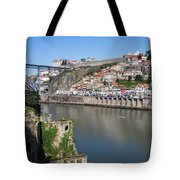 Cities Of Porto And Gaia In Portugal Tote Bag
