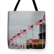 Citifield And American Flags Tote Bag