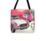 Citroen Dyane Hello Kitty Tote Bag
