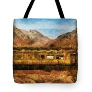City - Arizona - Desert Train Tote Bag