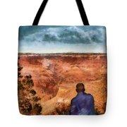 City - Arizona - Grand Canyon - The Vista Tote Bag by Mike Savad