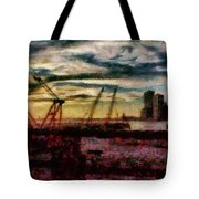 City - Ny - Overlooking The Hudson Tote Bag