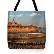 City - Ny - The Staten Island Ferry - Panorama Tote Bag