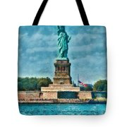 City - Ny - The Statue Of Liberty Tote Bag