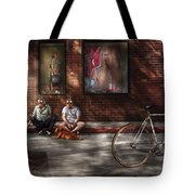 City - Ny - Two Guys And A Dog Tote Bag